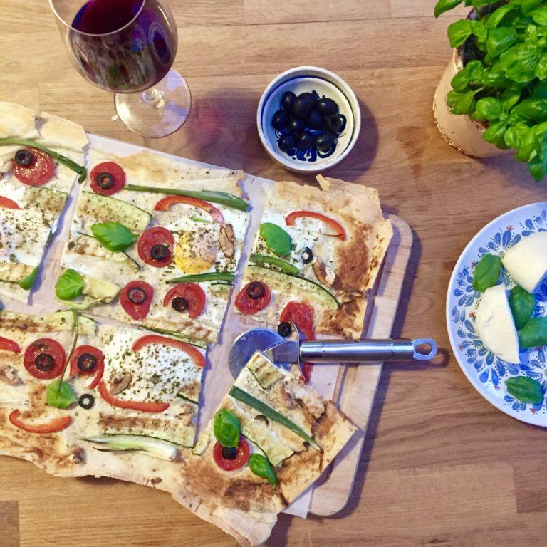 Vegetariánska lavaš pizza na spôsob ''Italian night''