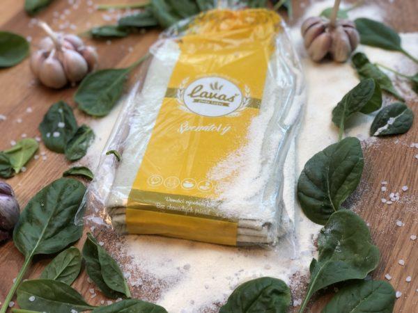 Lavaš špenát cesnak