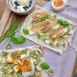 Kanapky s avokádom a lososom