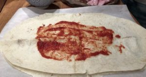 Calzone lavaš pizza