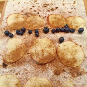 Jablkovo škoricová Štrúdľa s gaštanovým pyré a čučoriedkami IMG_9439