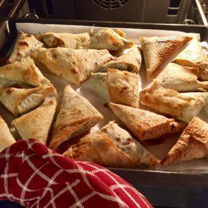 Zapekané plnené Lavaš trojuholníky