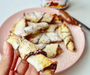 Nutelové mini croissanty