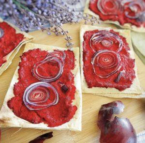 Chrumkavé chlebíky s červenou repou