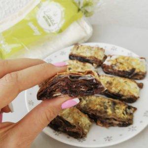 Malinovo-čokoládová roláda