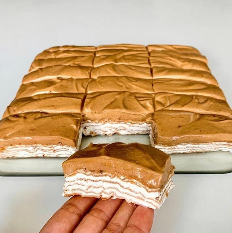 Nepečený vanilkovo - čokoládový mliečny rez