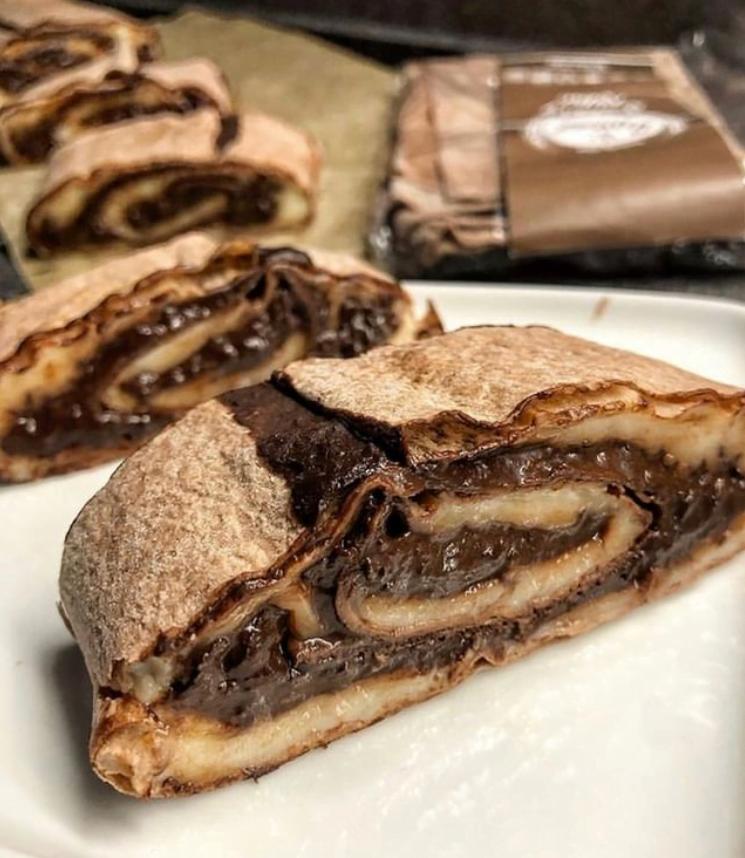 Nepečená kakaová lavaš roláda